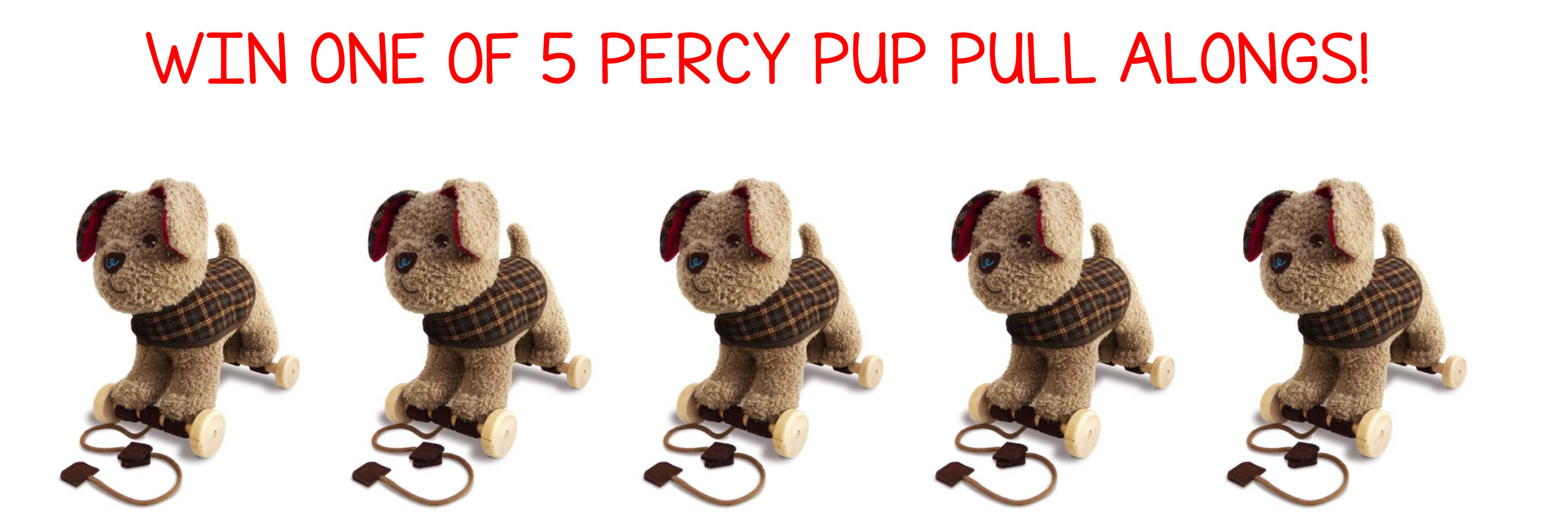 Spring is HERE! Win 1 of 5 Percy Pup Pull Alongs!