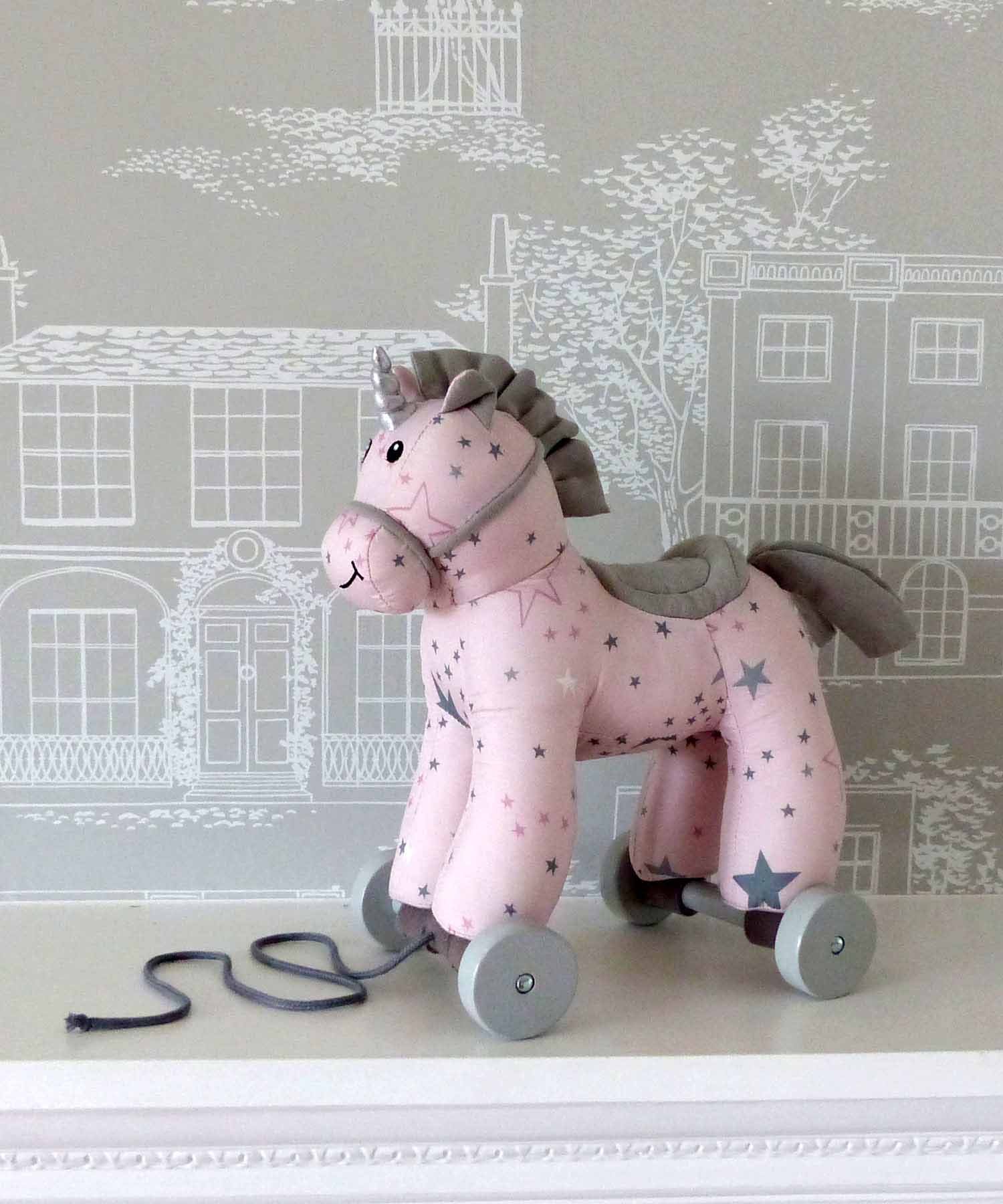 Celeste Unicorn Pull Along Toy