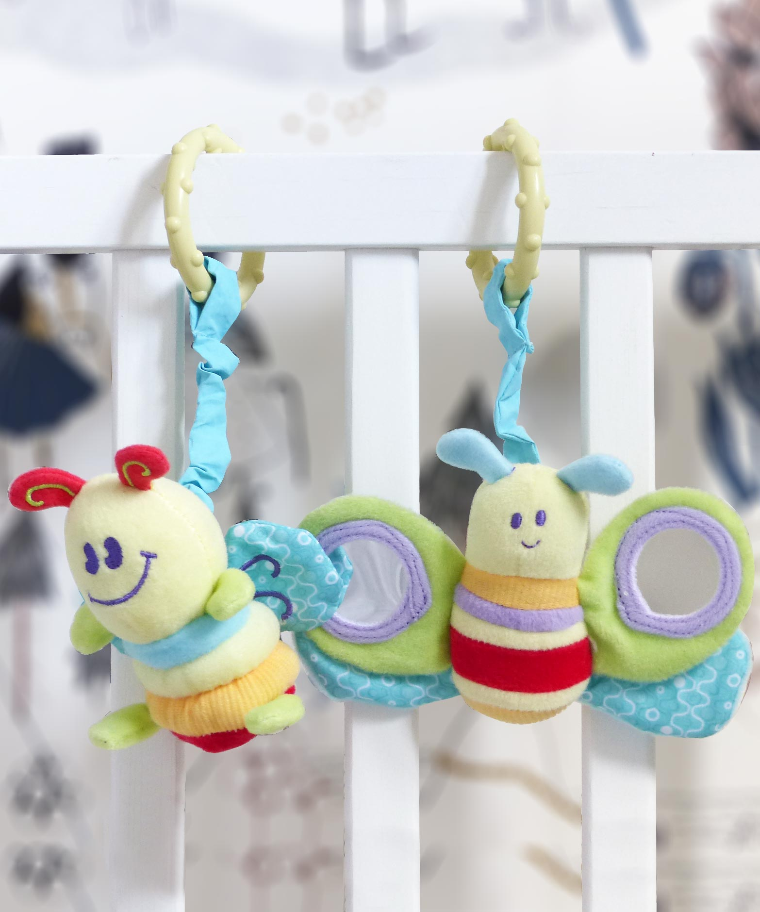 Rattle & Squeak Set - Breezy Butterfly & Burble Bee