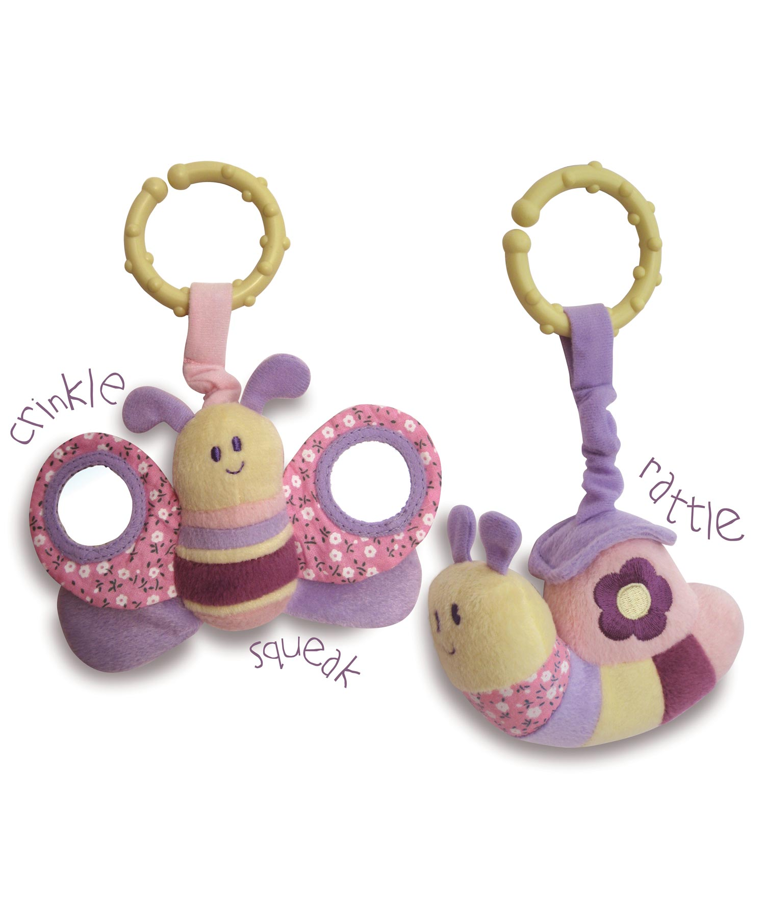 Rattle & Squeak Set - Billowy Butterfly & Softly Snail